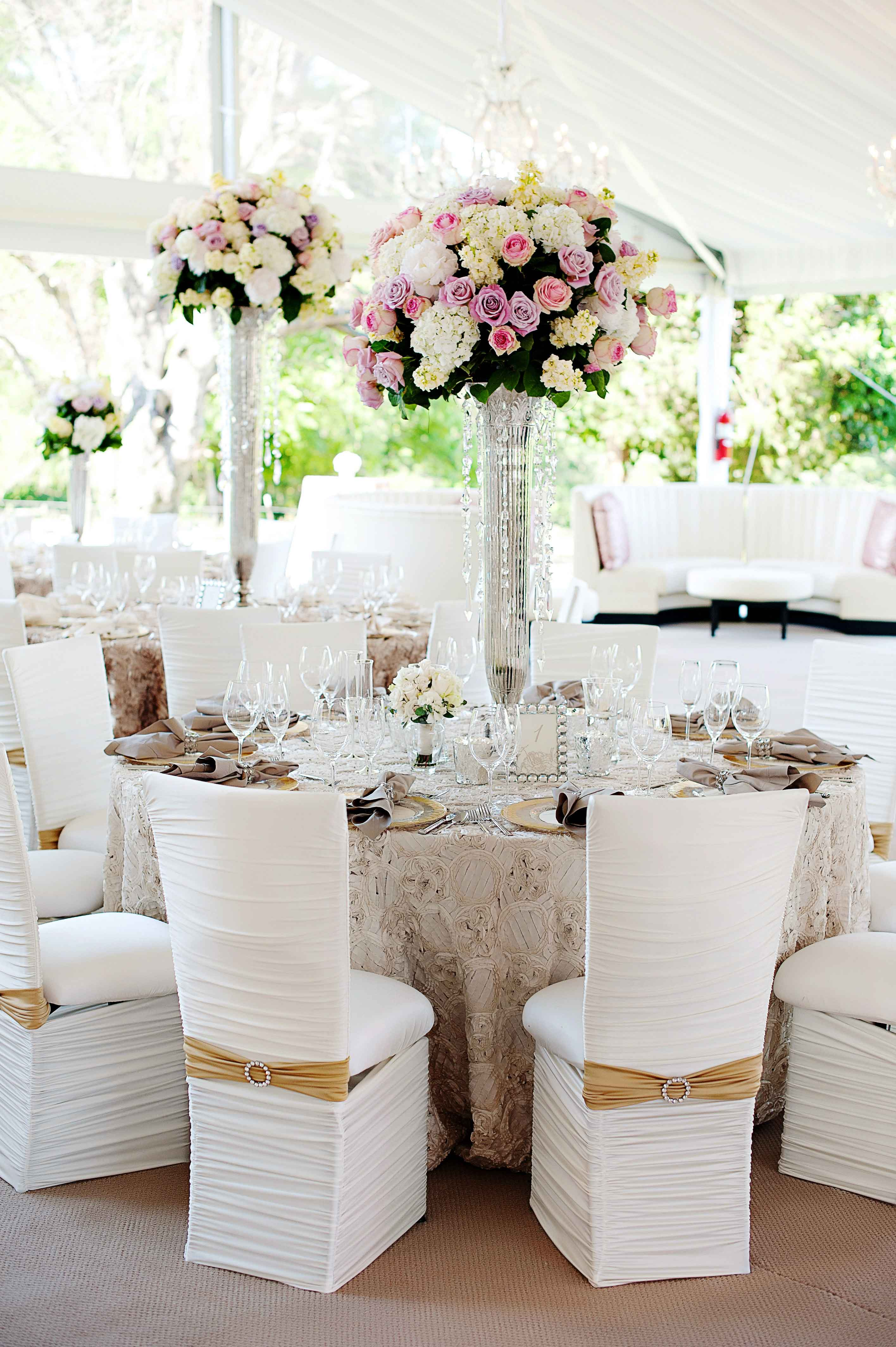 popular real wedding inside weddings classic reception decor tent chameleon chair collection viva bella events