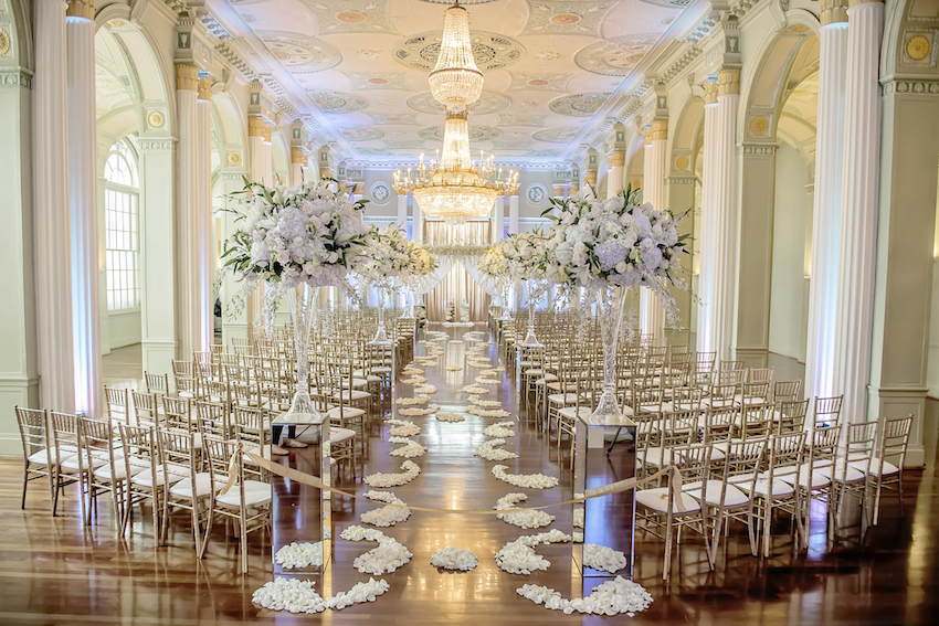 popular real wedding inside weddings biltmore ballrooms atlanta wedding ceremony