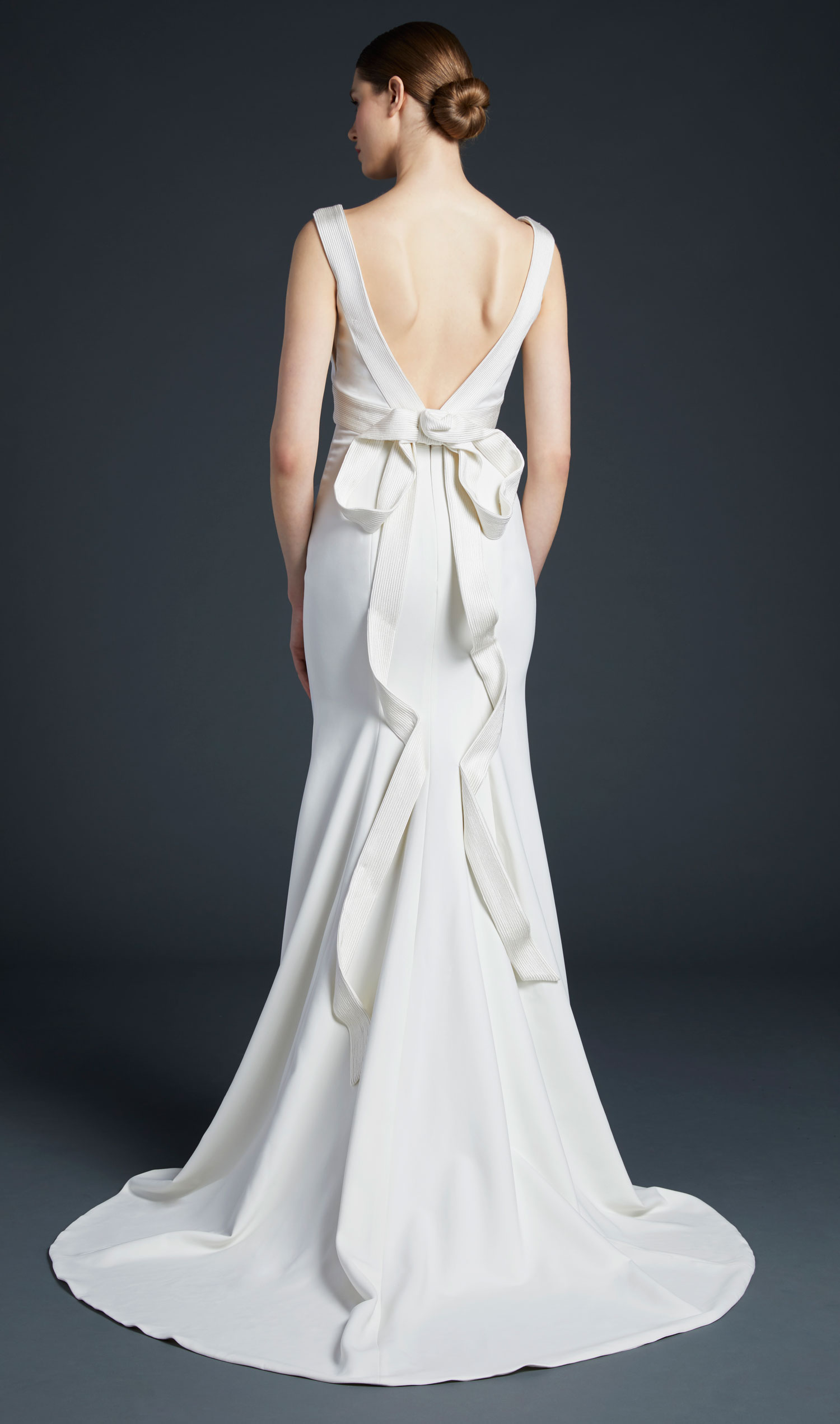 Anne Barge wedding dress Baird bridal gown with low back and large bow in back