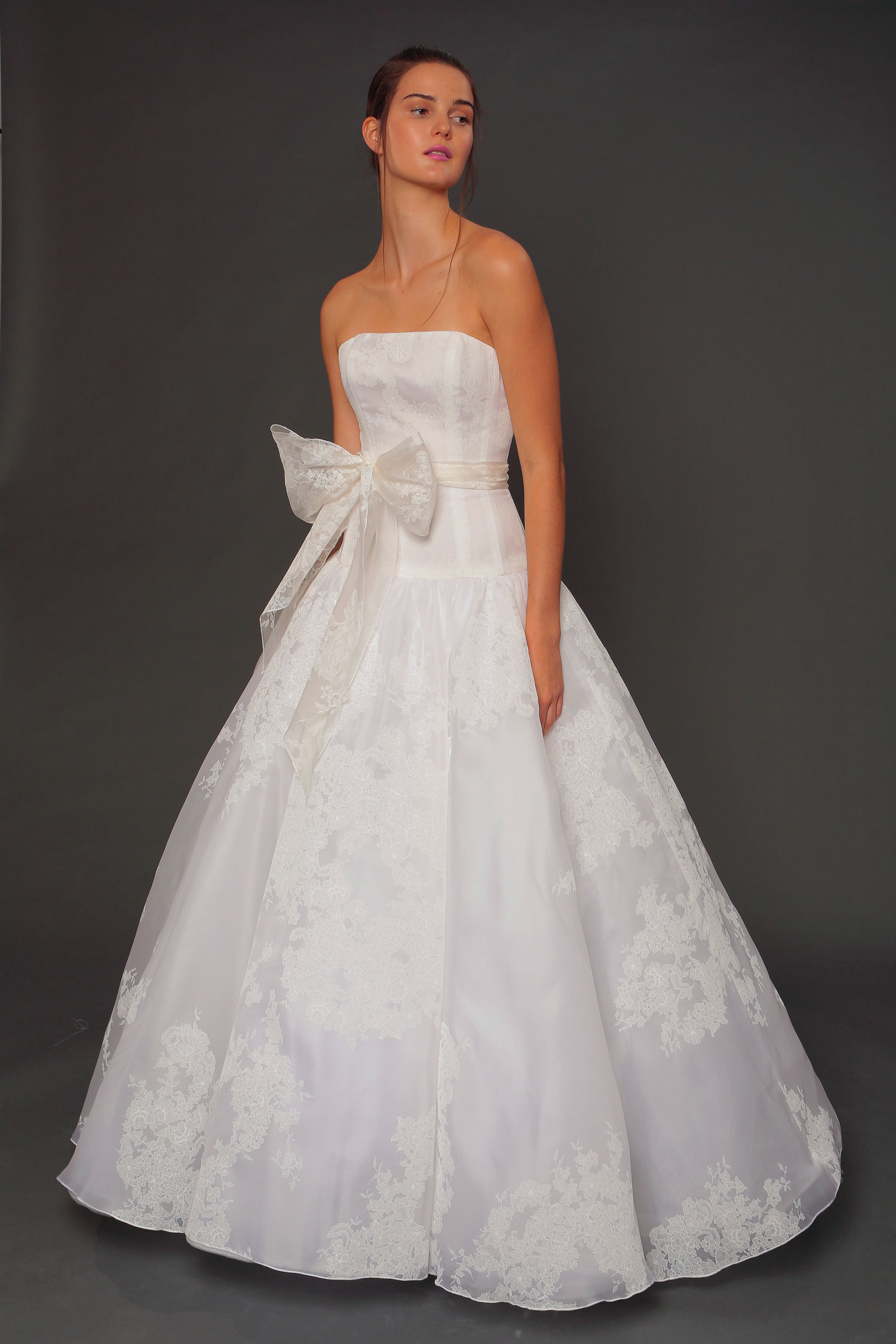 Isabelle Armstrong wedding dress with large bow detail in front