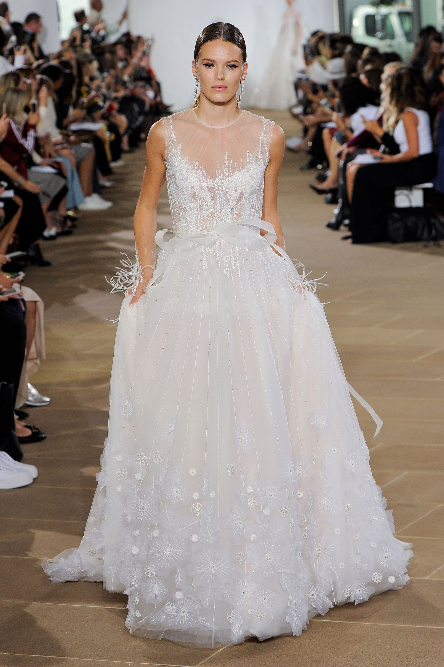 Ines Di Santo wedding dress sparkle with little bow detail at front