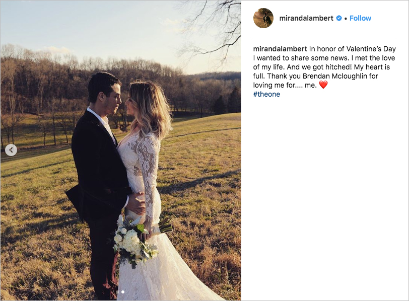 miranda lambert surprise wedding to brendan mcloughlin