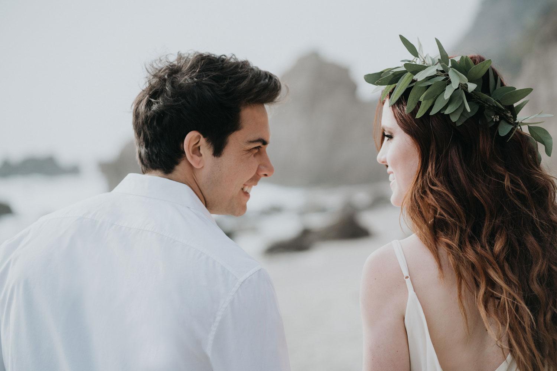 Echosmith Sydney Sierota and Allstar Weekend Cameron Quiseng engagement shoot beach malibu