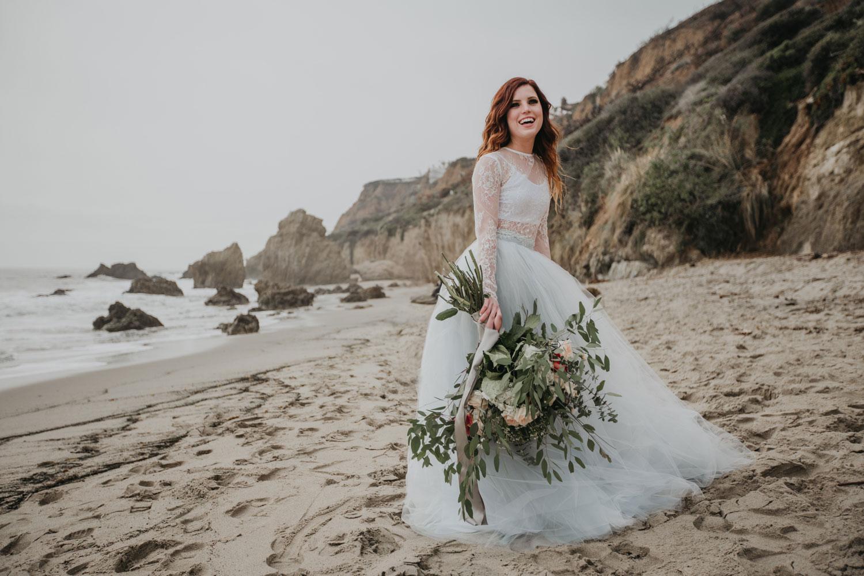 Echosmith Sydney Sierota engagement shoot blue tulle skirt white lace top flowers