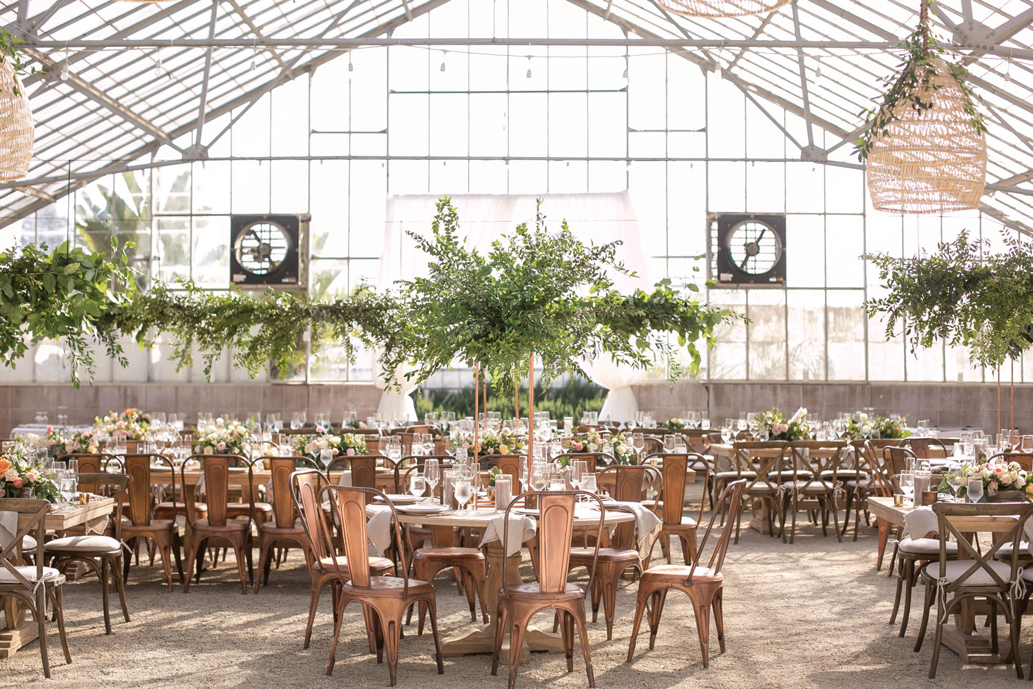 Inside Weddings magazine Spring 2019 issue industrial venue rustic chic wedding reception