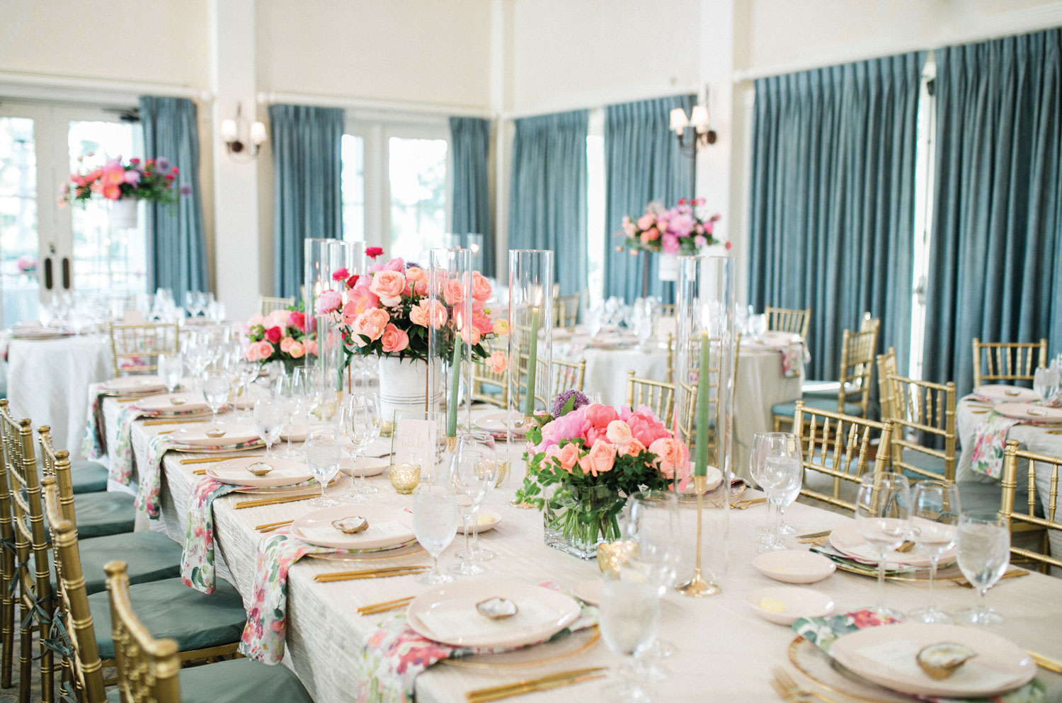 Inside Weddings magazine Spring 2019 issue pretty spring wedding reception pastel colors