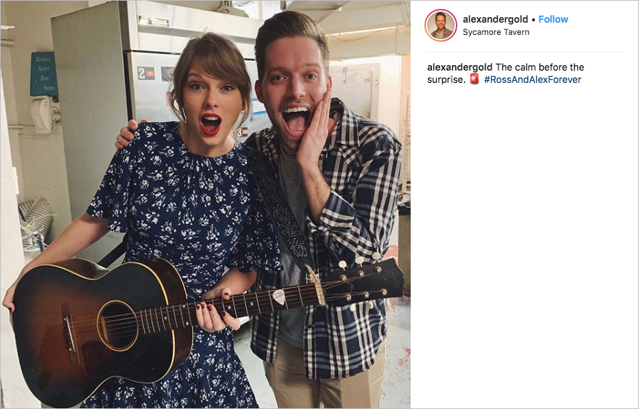 taylor swift surprise performance at alex goldschmidt's engagement party
