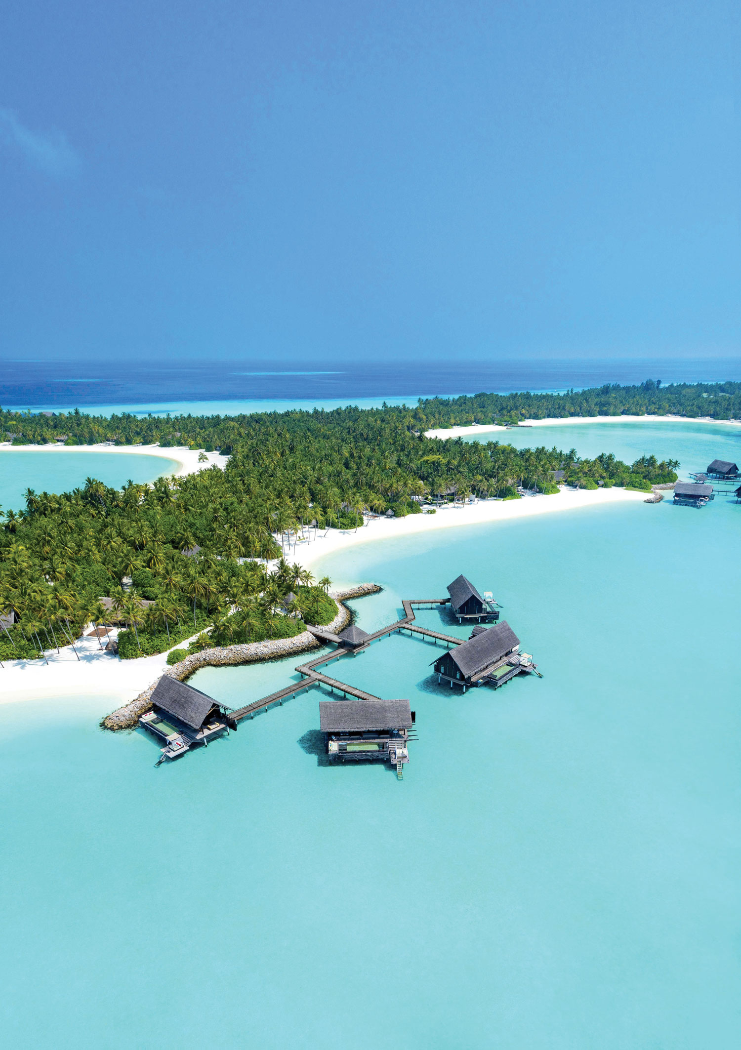 One&Only Reethi Rah over water bungalow accommodations