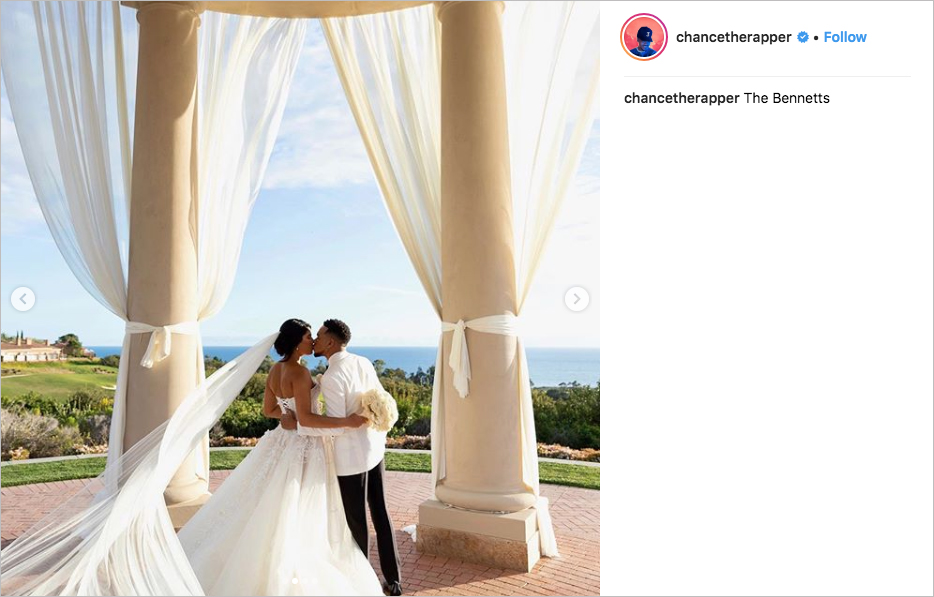 chance the rapper wedding kirsten corley the resort at pelican hill