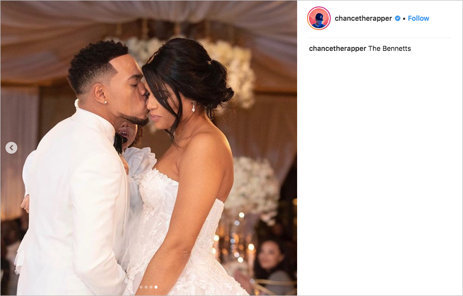 chance the rapper wedding kirsten corley the resort at pelican hill, chance the rapper daughter kensli