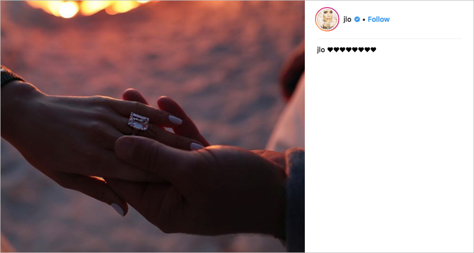 j.lo and a-rod engaged, jennifer lopz and alex rodriguez engaged, jennifer lopez engagement ring, j.lo engagement ring, j.lo el anillo