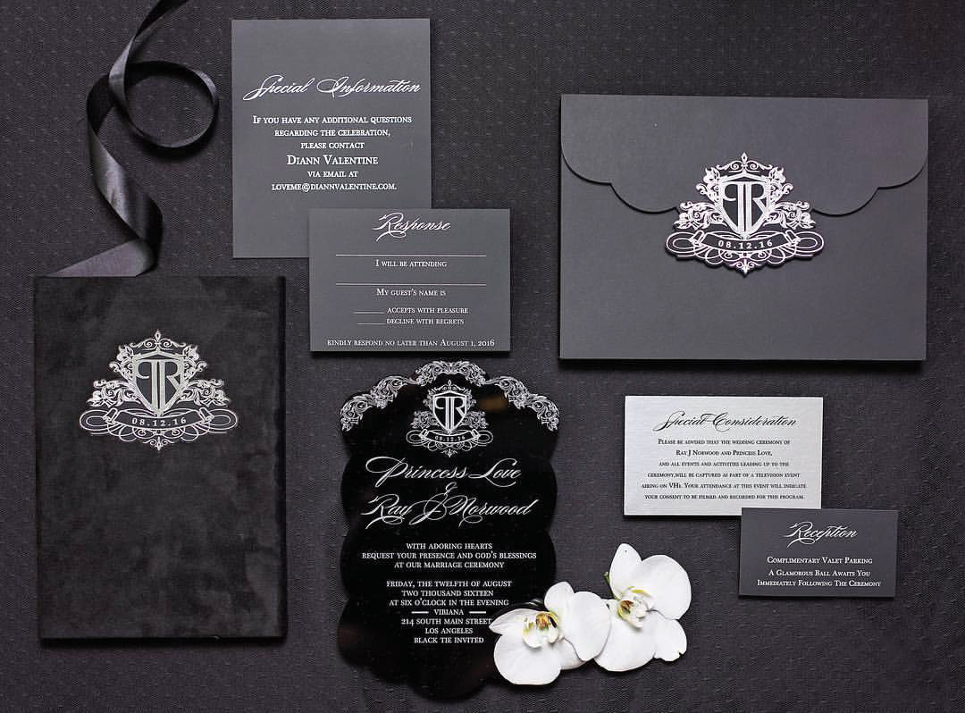 Black and white wedding invitation suite by oda creative formal wedding ideas