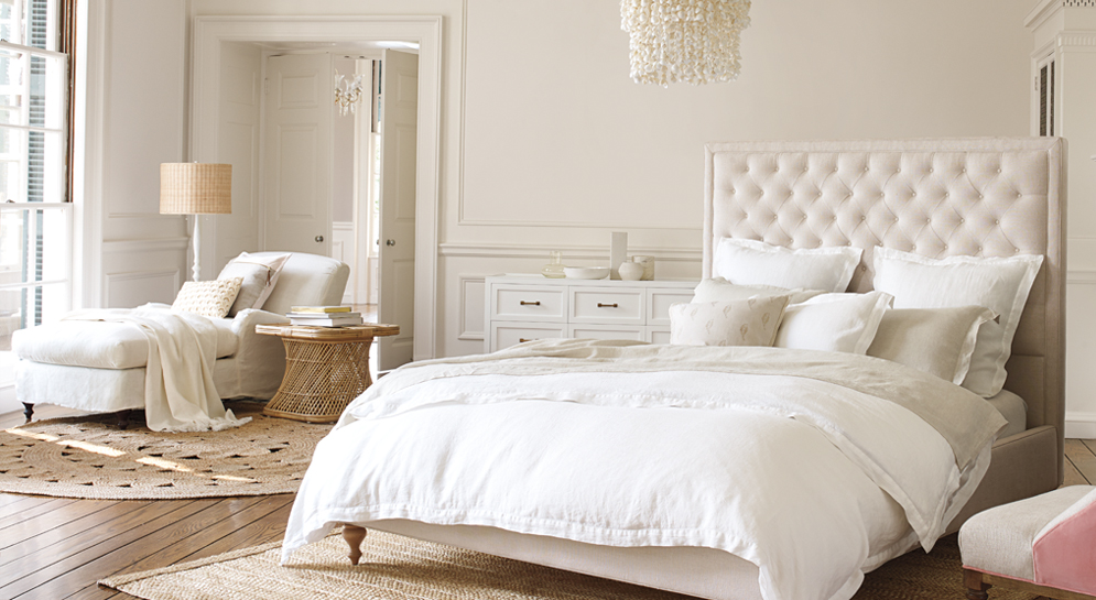 neutral bedding and bedroom decor serena and lily bed and chaise combo spring sale refresh
