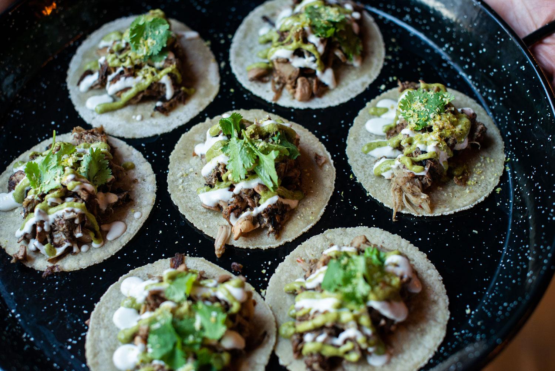 vegan wedding ideas jackfruit tacos with cashew crema