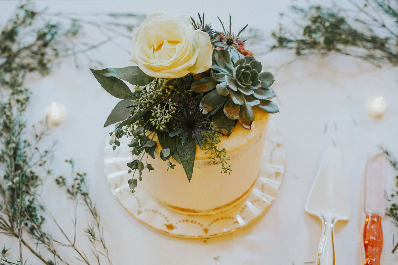 second wedding cake fresh succulents on top vegan wedding ideas