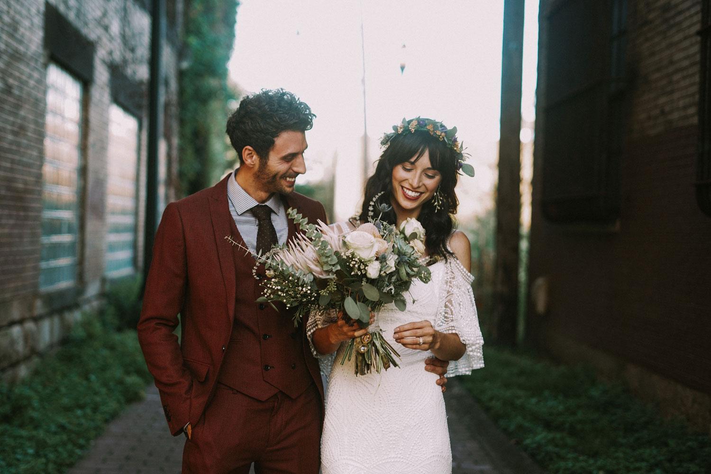 bride and groom portrait pittsburgh wedding vegan wedding ideas