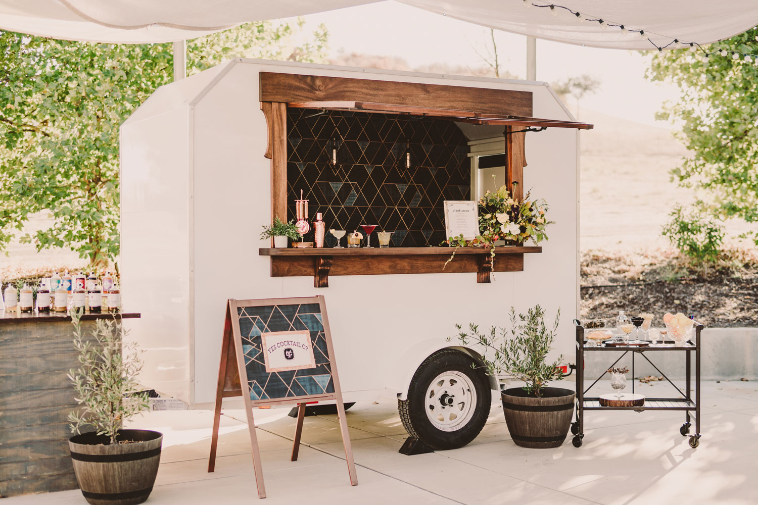 The Charlotte Mobile Wedding Bar by Yes Cocktail Co.