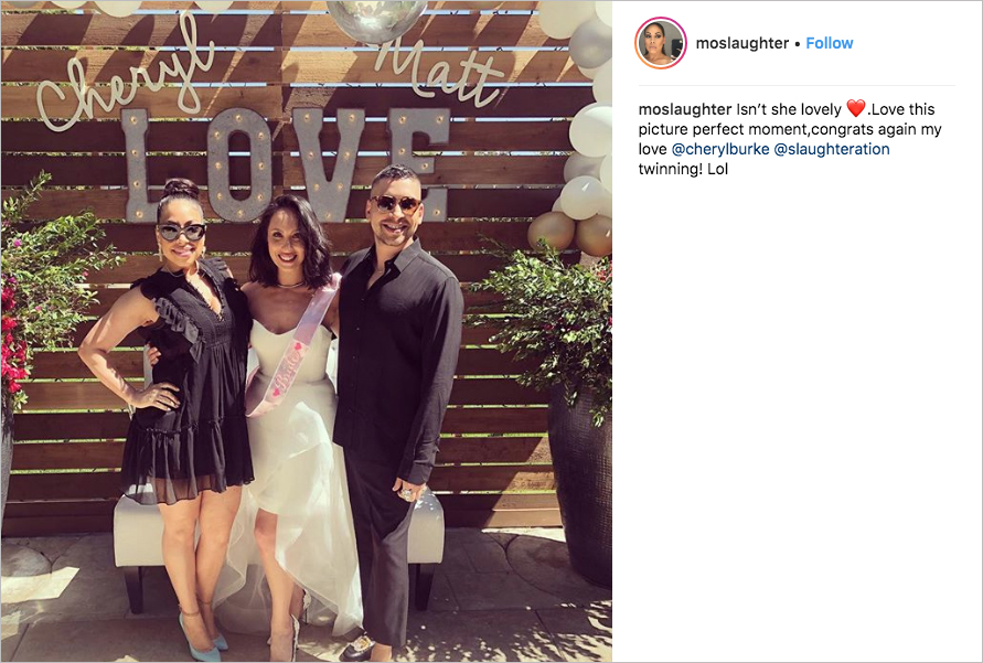cheryl burke wedding matthew lawrence leah remini bridal shower