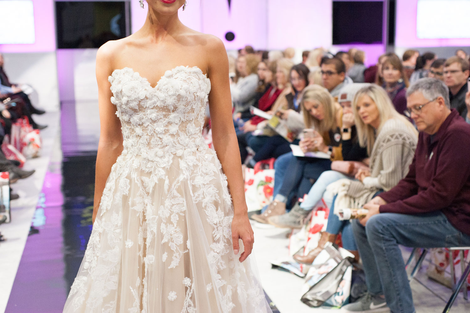UNVEILED - The Ultimate Wedding Planning Event by The Wedding Guys in Minnesota - fashion show close up flower applique