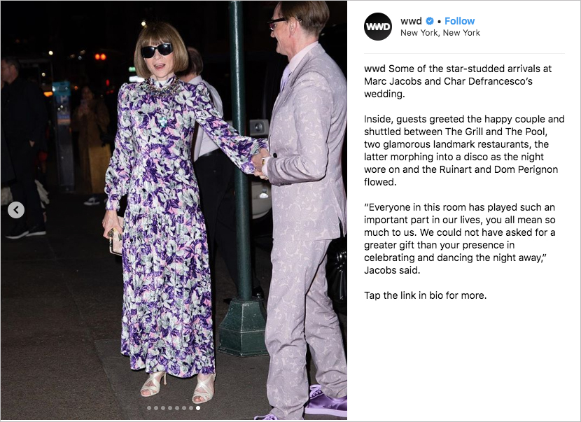 marc jacobs Char Defrancesco wedding, anna wintour