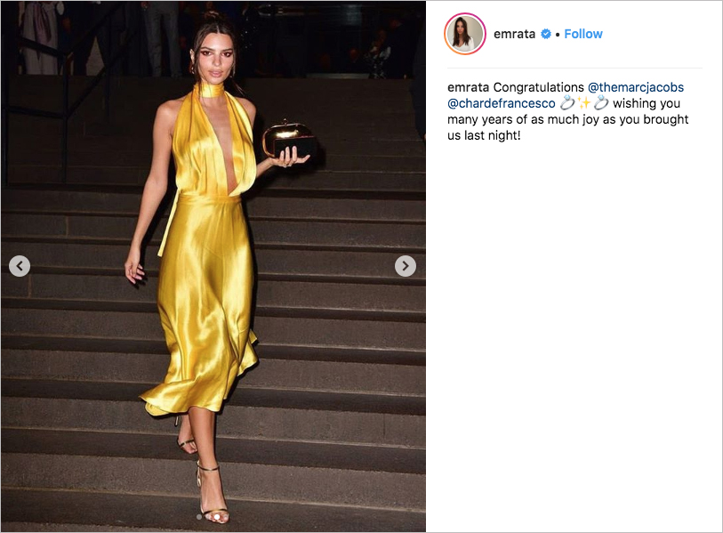 marc jacobs Char Defrancesco wedding, emily rataajkowski