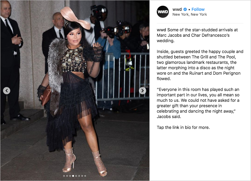 marc jacobs Char Defrancesco wedding, lil kim