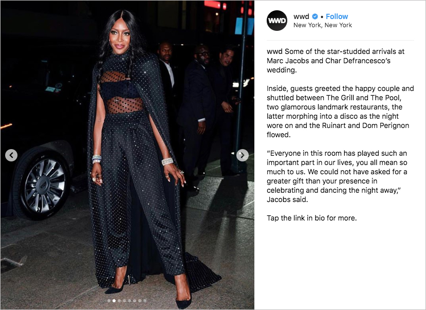 marc jacobs Char Defrancesco wedding, naomi campbell