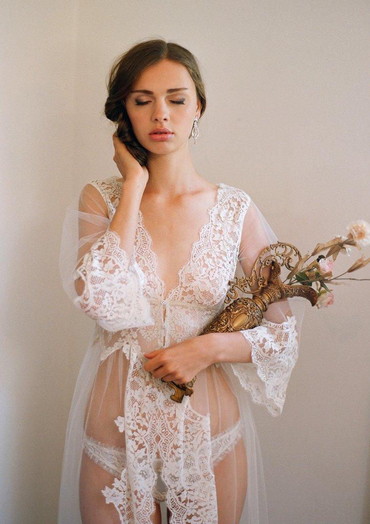 La Scala robe claire pettibone wedding lingerie intimates ideas