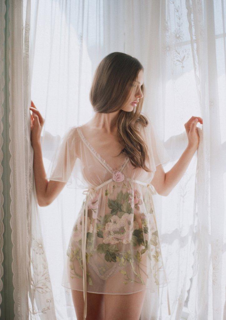 Claire Pettibone jardin chemise set wedding lingerie intimates ideas