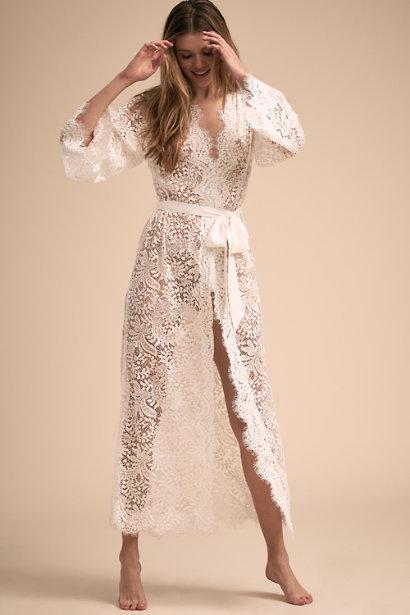 Anemone maxi robe homebodii bhldn wedding lingerie intimates ideas