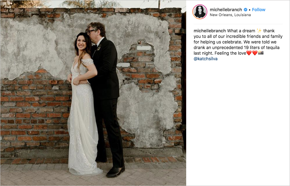 michelle branch and patrick carney the black keys celebrity wedding in new orleans