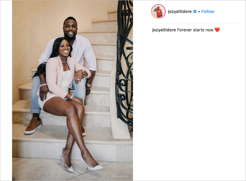 Sloane Stephens and Jozy Altidore engaged, sloane stephens engagement ring, large radiant cut engagement ring