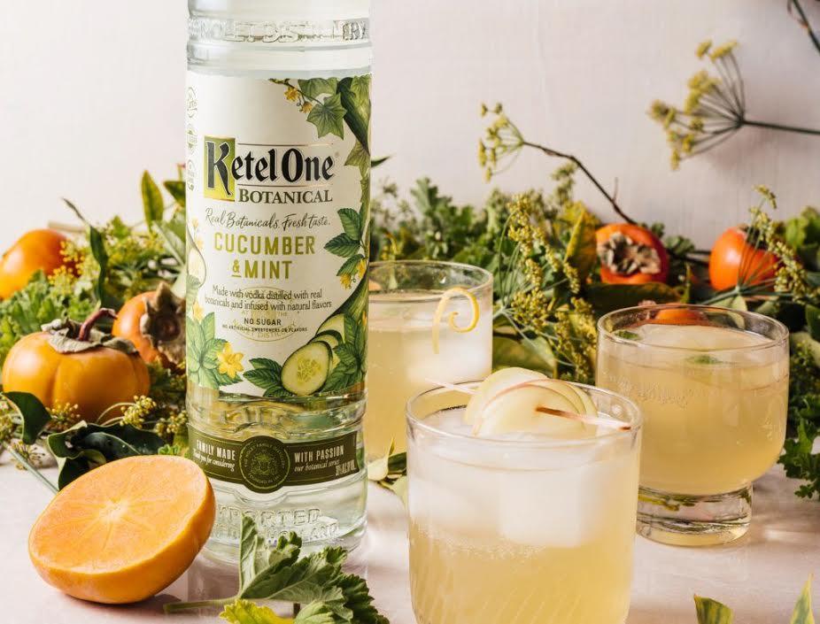 Ketel One Botanical signature cocktail recipe lady kombucha lemon healthy drink