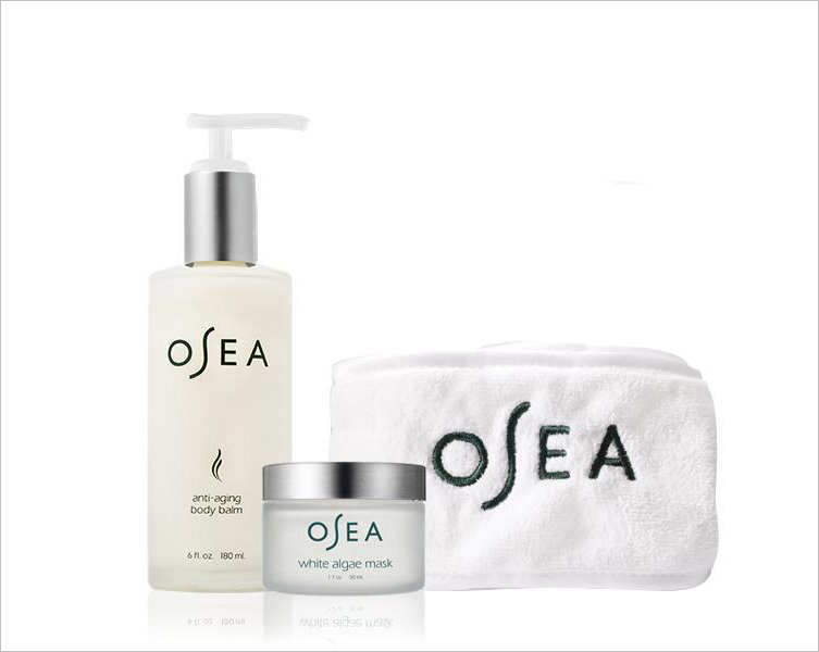OSEA malibu mother's day gift set spa day body balm white algae mask headband