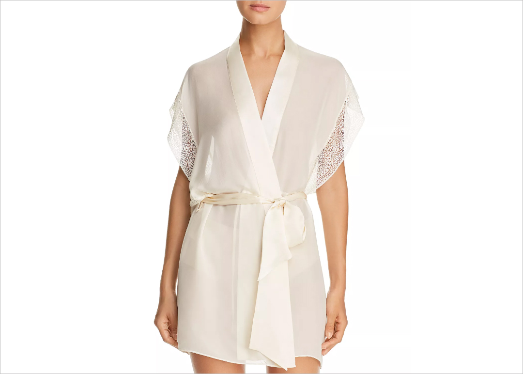 white cream silk robe calvin klein mother's day gift ideas