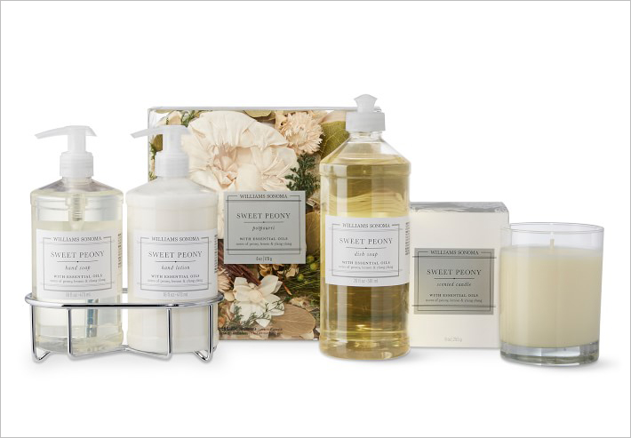 williams sonoma sweet peony bath products essential oils gifts for mother's day ideas