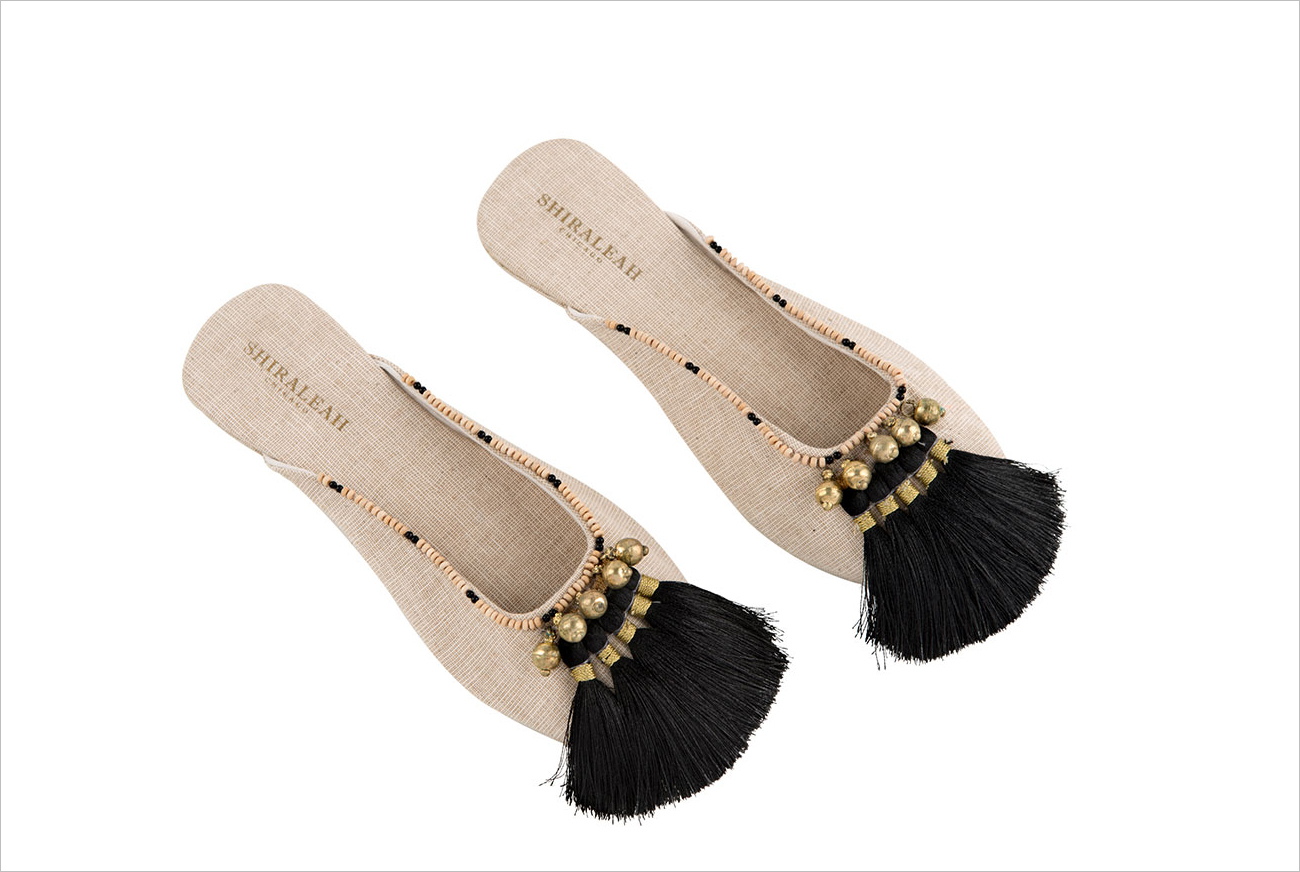white lilac shop black tassel slippers mother's day gift ideas