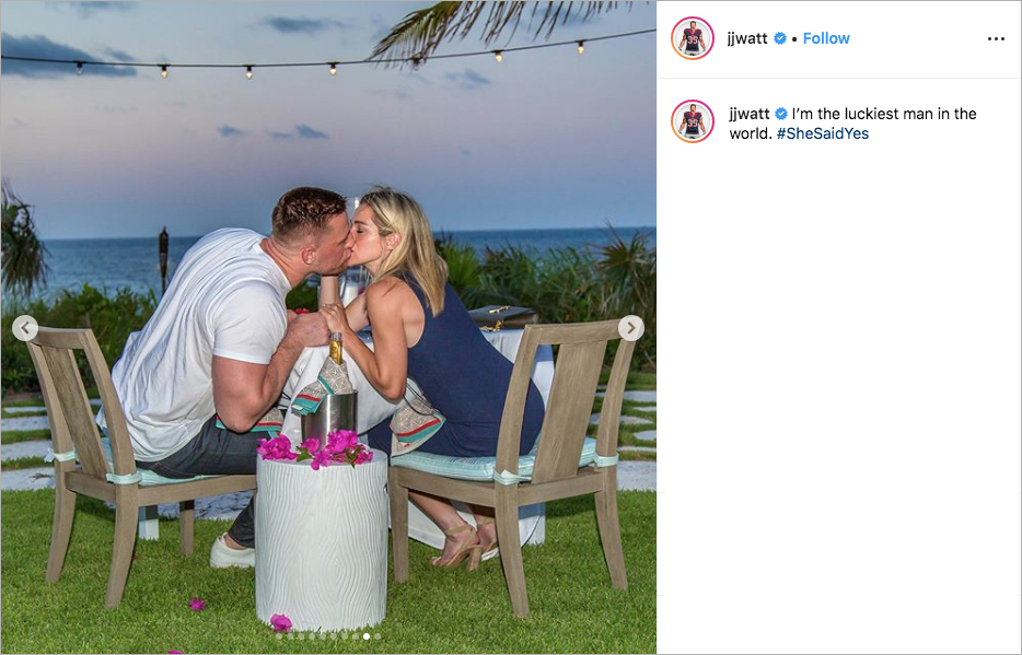 Nfl Player Jj Watt Is Engaged To Kealia Ohai Inside Weddings