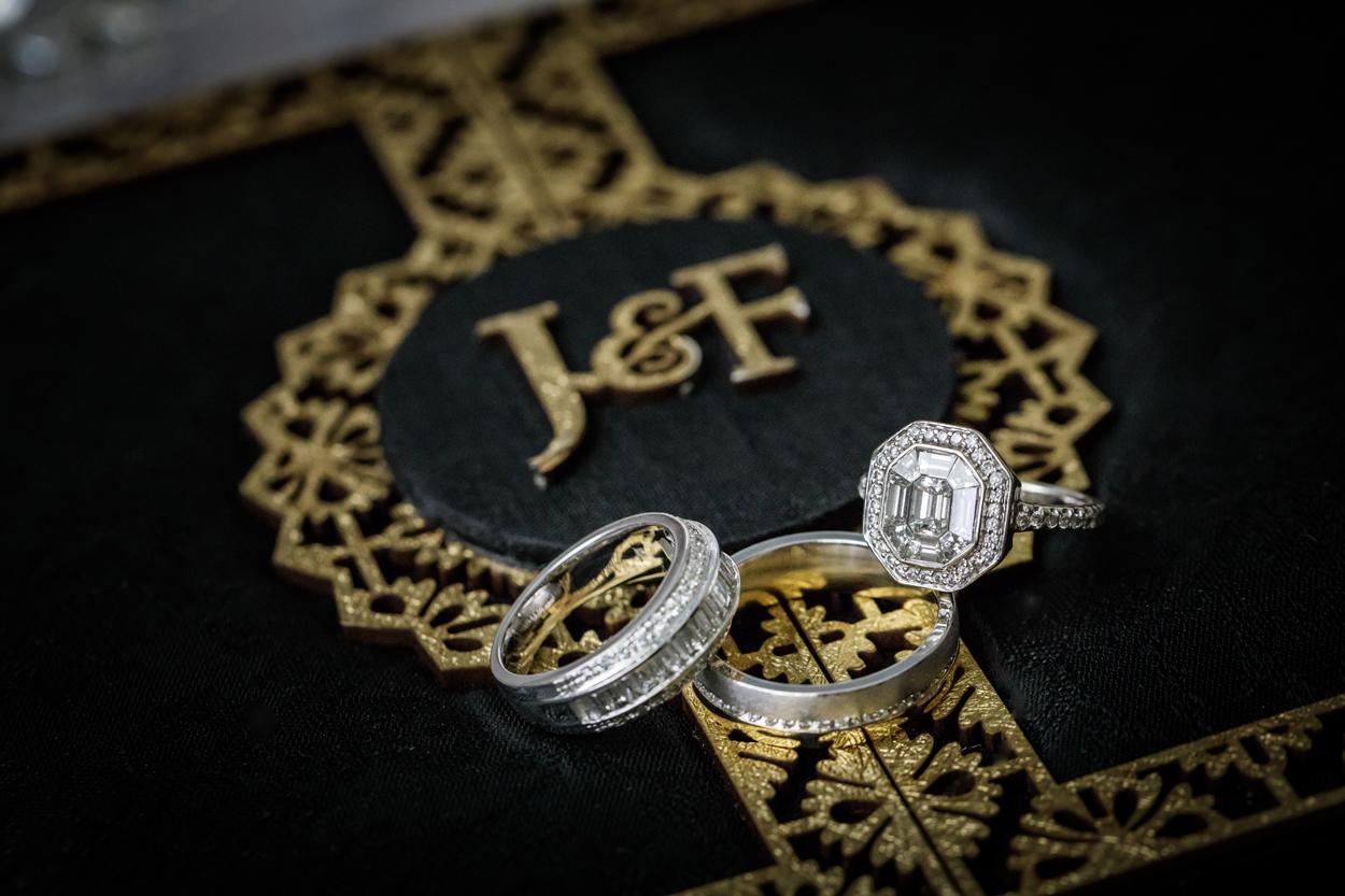art deco inspired edwardian vintage engagement ring