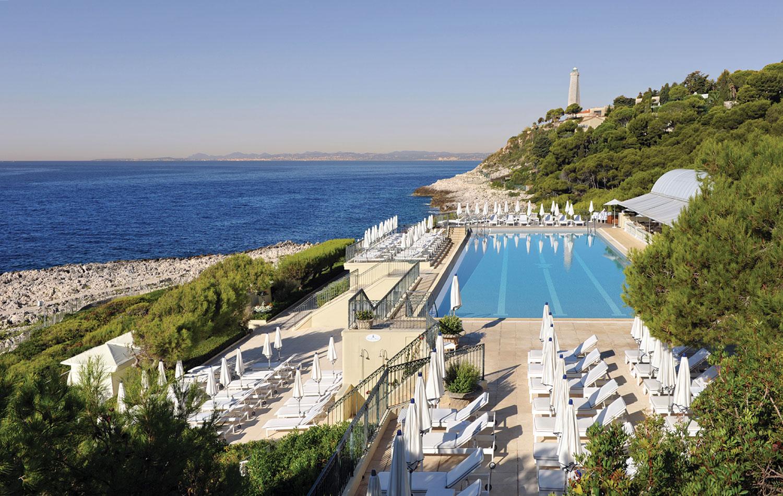 Zena Foster and Durrell Tank Babbs honeymoon Grand Hotel du Cap Ferrat pool four seasons