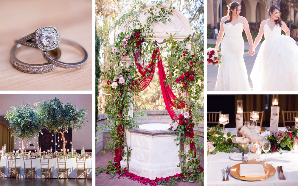gay lesbian wedding with autumn color palette wine inspired san diego