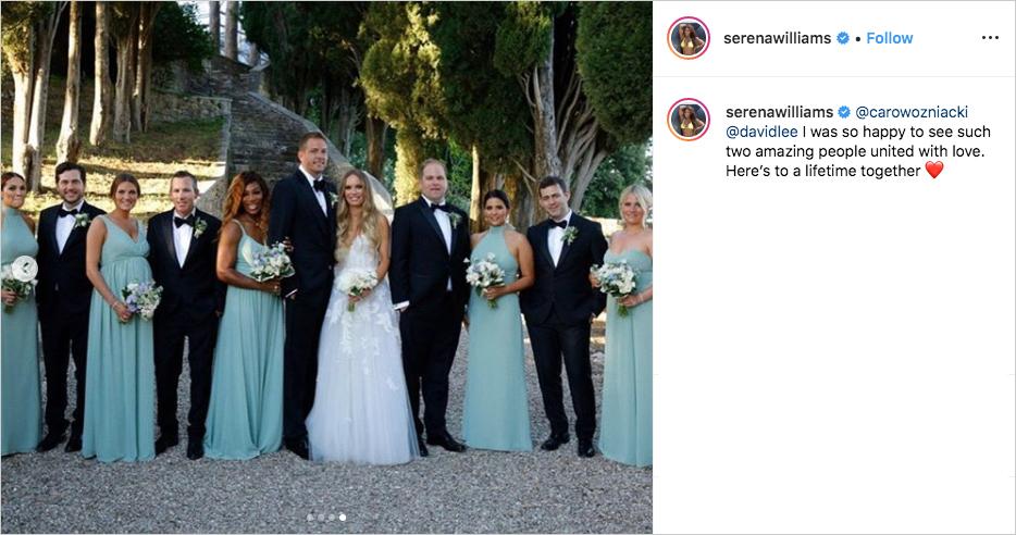 Caroline Wozniacki & David Lee wedding party, Serena Williams