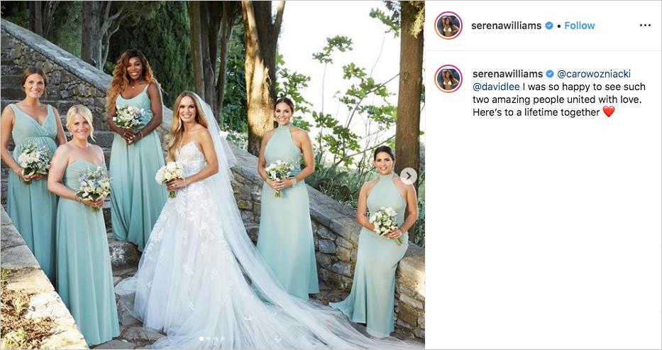 Caroline Wozniacki & David Lee wedding, Serena Williams as bridesmaid, Caroline Wozniacki's bridesmaids