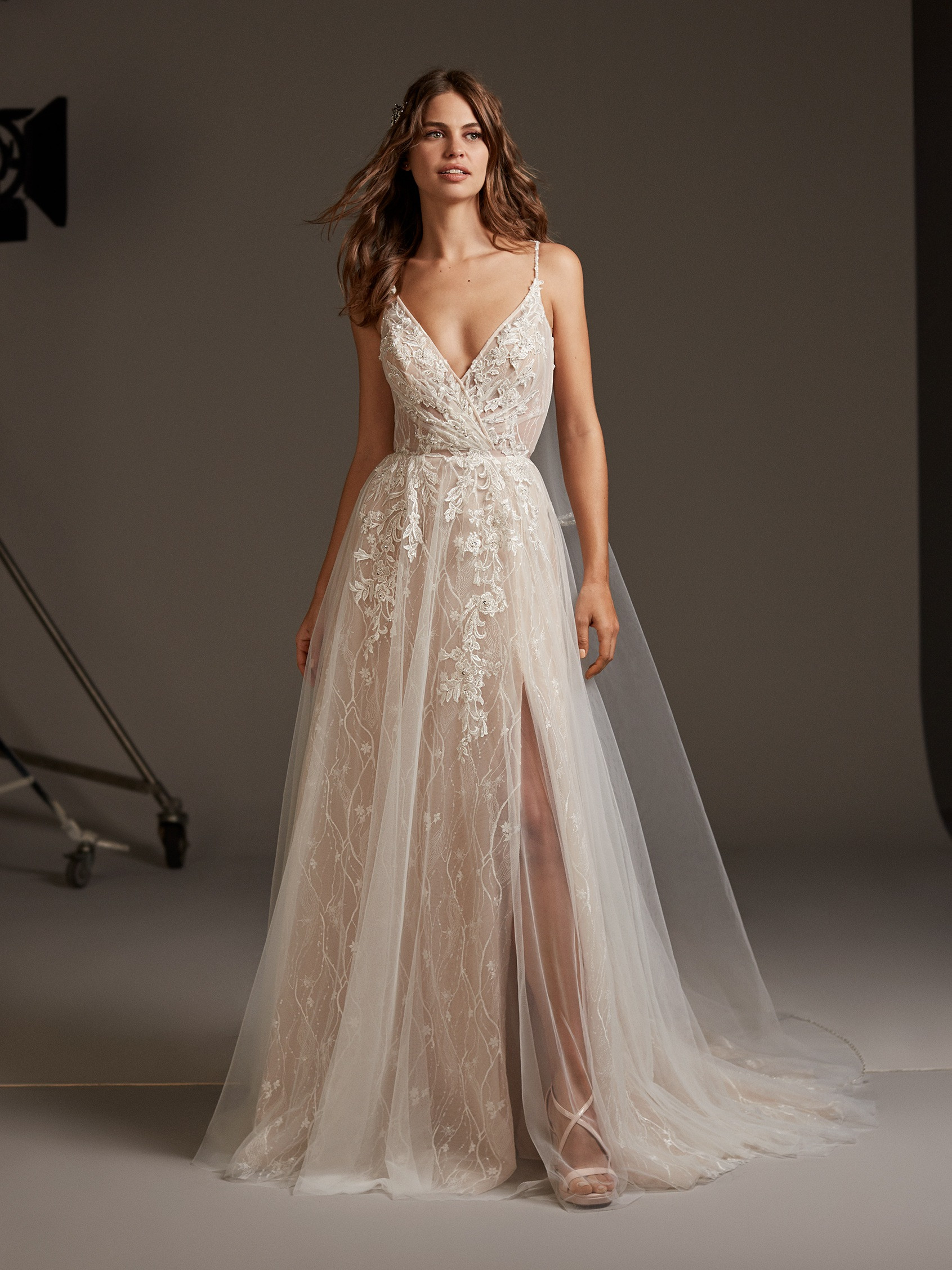 summer wedding ideas casual beach wedding gown Pronovias US bridal wedding dresses