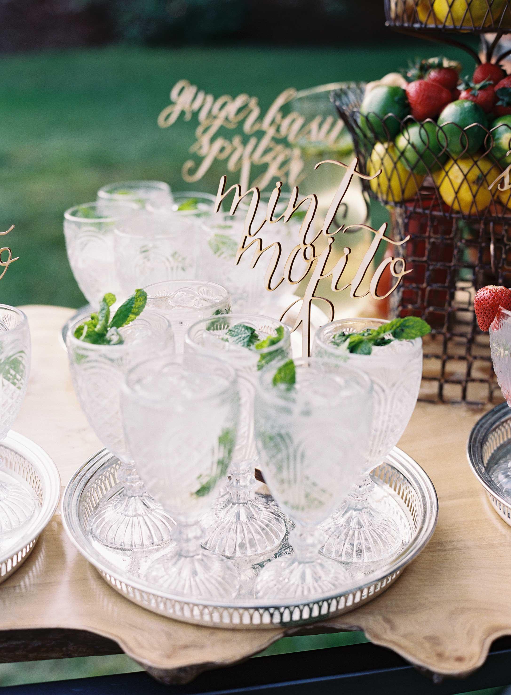 laser cut wedding ideas laser-cut drink stirrer name cocktail mocktail mojito cocktail hour signs