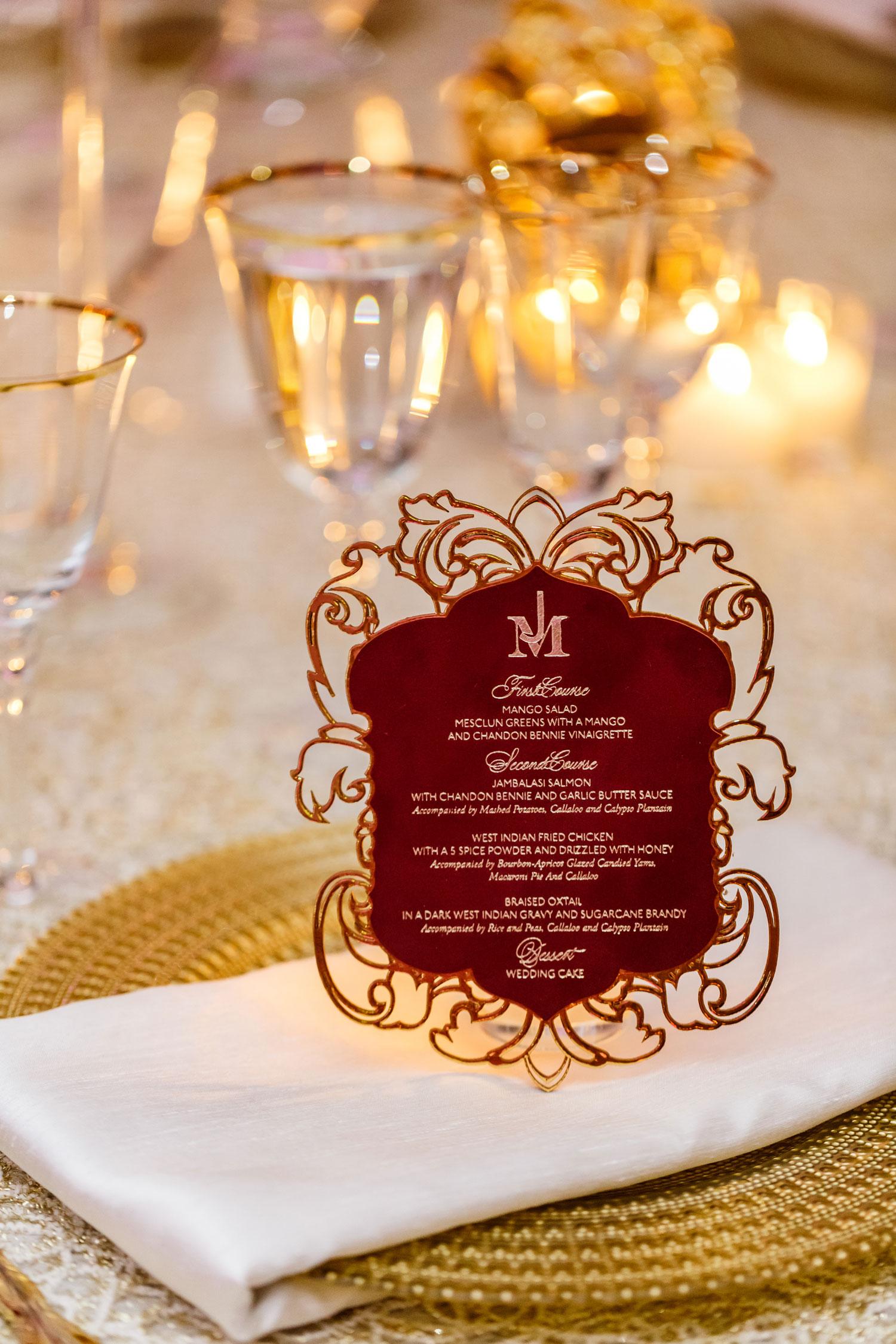 laser cut wedding ideas laser-cut wedding menu card at reception table