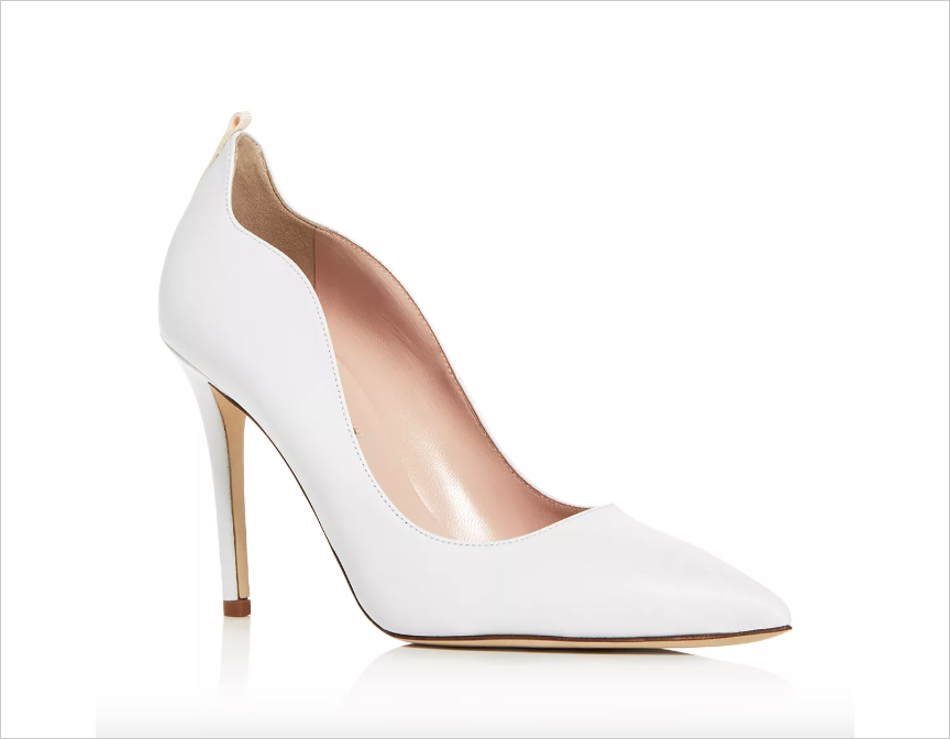 Cyrus white pump SJP by Sarah Jessica Parker wedding shoes 4th fourth of july sales for brides