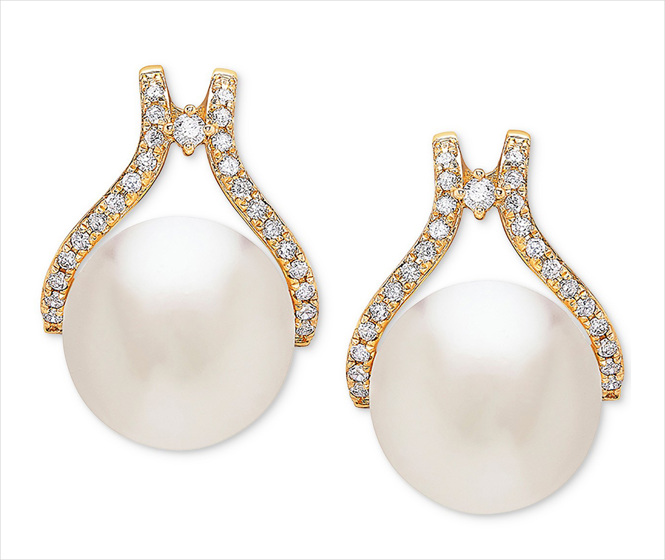 Macy's Arabella pearl and diamond earrings 4th fourth of july sales for brides