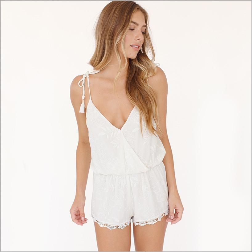 Plum Pretty Sugar daydreamer romper sleepwear bridal style fourth 4th of july sales