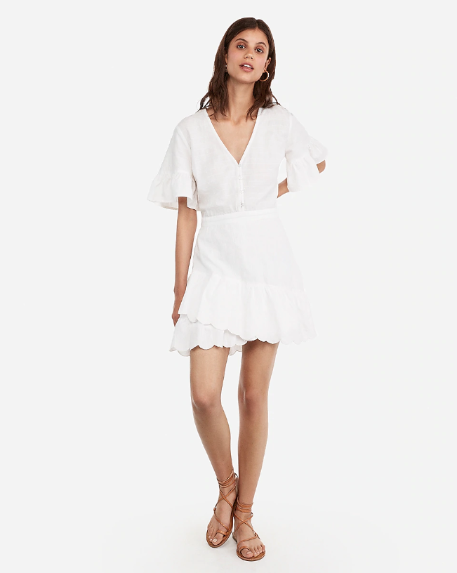 Express flutter sleeve dress 4th of july sales honeymoon outfit ideas for the fourth